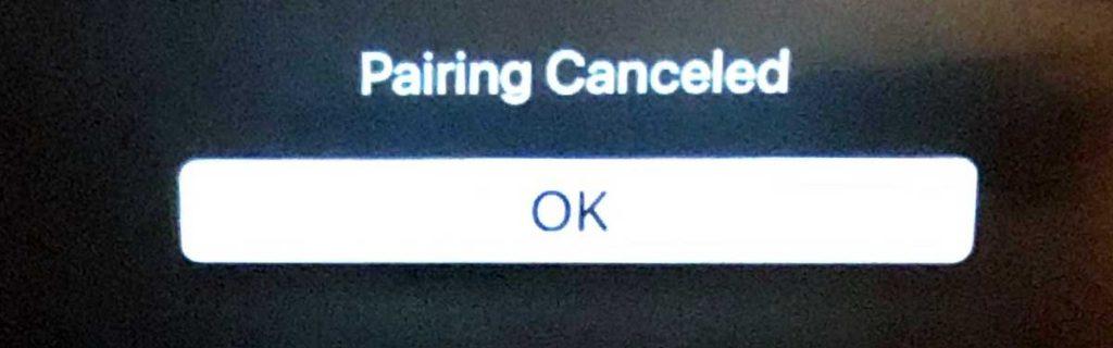 pairing cancelled error on Apple Fitness+