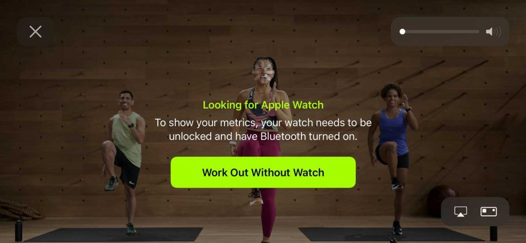 Work Out Without Apple Watch in Apple fitness+