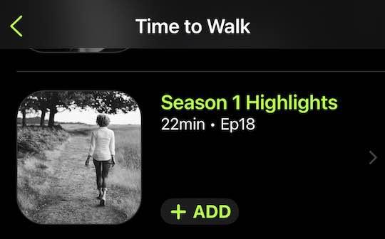 Apple Fitness+ Time to walk season 1 highlights