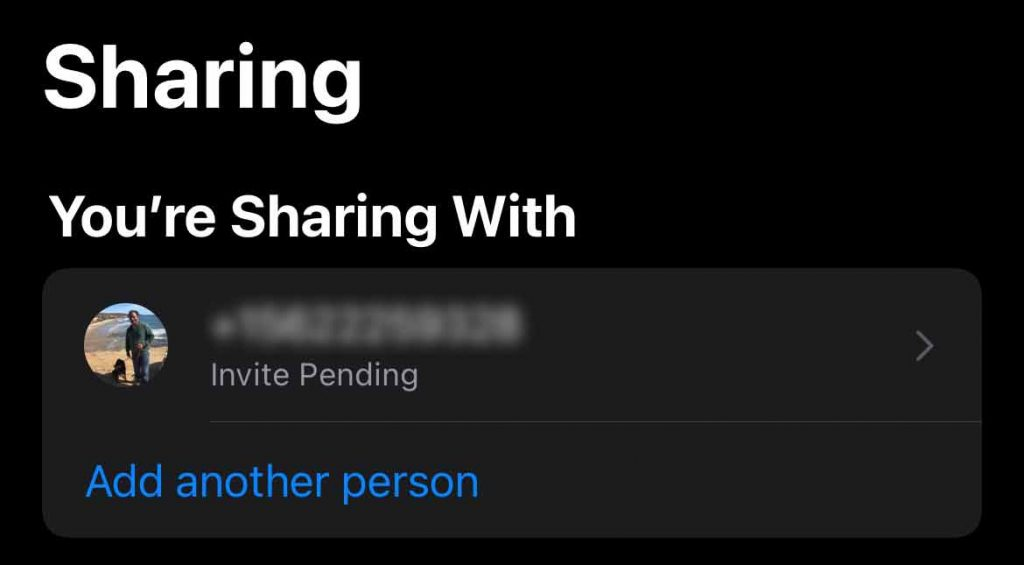 List of who you share your iPhone's Health app data with