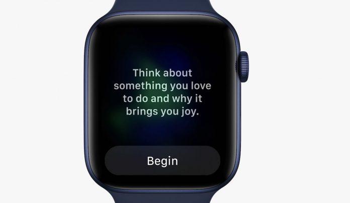 Apple Mindfullness app and Fitness+