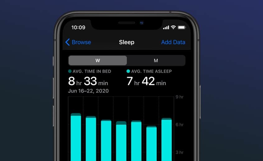 Apple Sleep tracking and monitoring