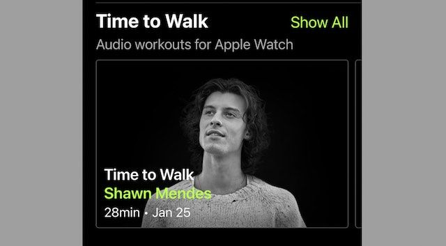 Apple Time to Walk feature