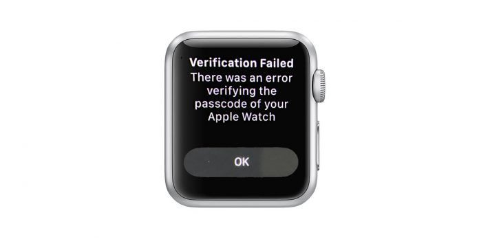 Apple ID verification error on Apple Watch