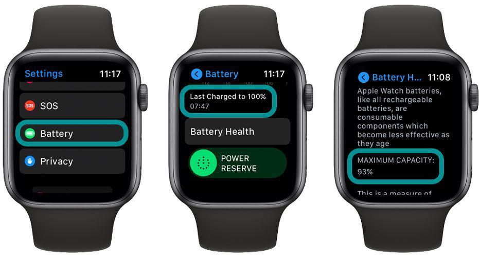 Battery stats on Apple Watch