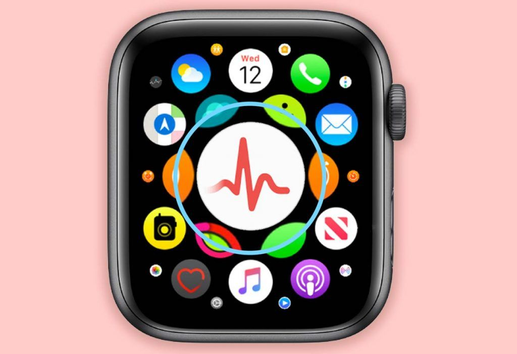 ECG app on Apple Watch home screen