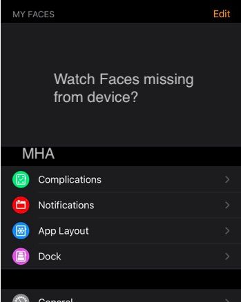 Apple Watch Faces Missing