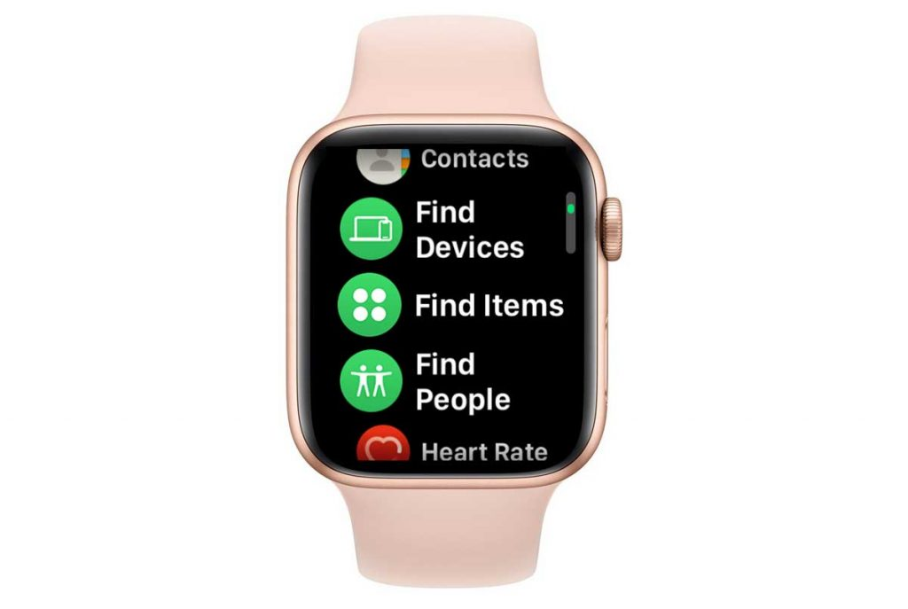 Find Devices and Find Items apps on Apple Watch