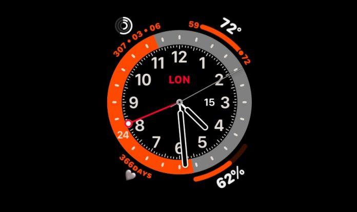 Apple Watch GMT Watch face