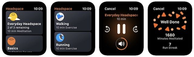 Apple Watch HEADSPACE APP FOR STUDENTS