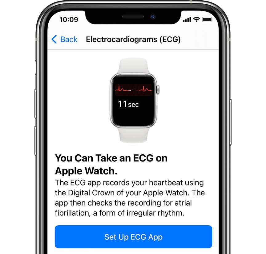 Set up ECG app in iPhone Health App for use on Apple Watch