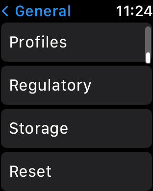storage setting on Apple Watch formerly called Usage