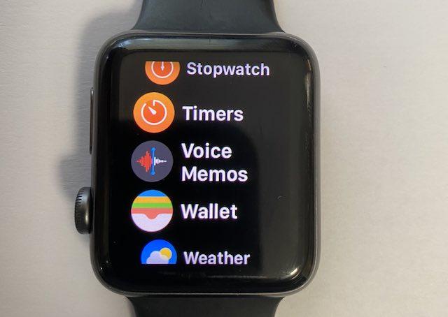 Apple Watch Voice Memos