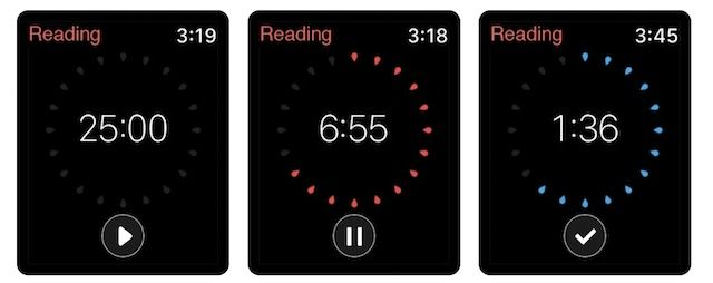 Apple Watch app for maintaining focus