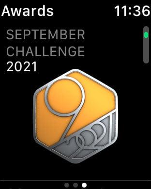 Activity badge in Apple Watch