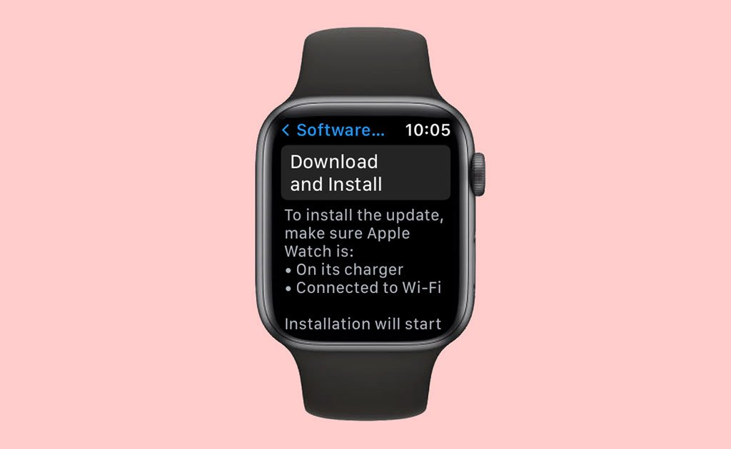 Download and install Apple Watch update on the watch itself