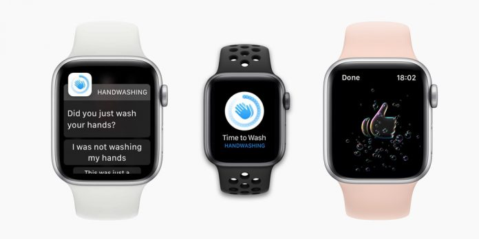 hand washing reminders, notifications, and countdown on Apple Watch