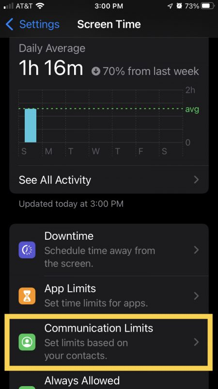 Communication Limits for iPhone
