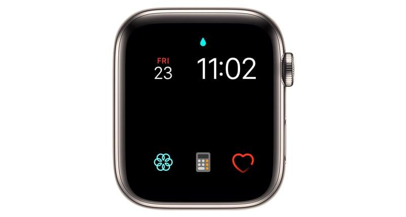 apple watch water lock on