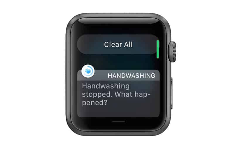 apple watch hand washing alert