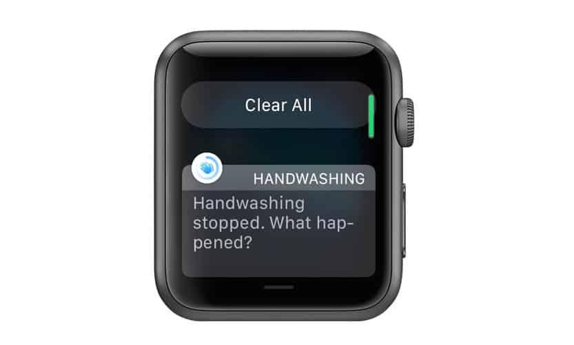 apple watch hand washing alert