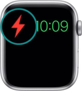 icon or Apple Watch low power mode, power reserve