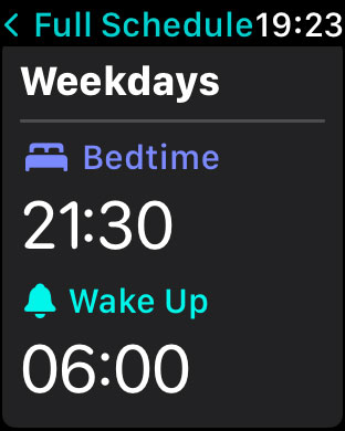 Apple watch sleep app wake up and bedtime schedule