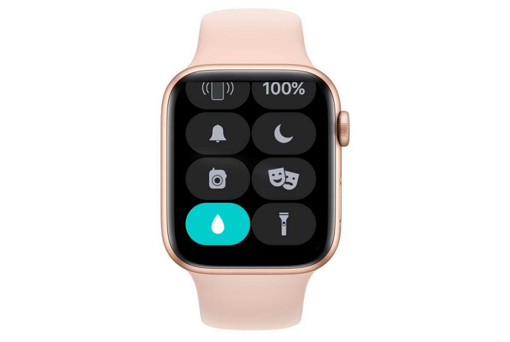 water lock on Apple Watch in control center