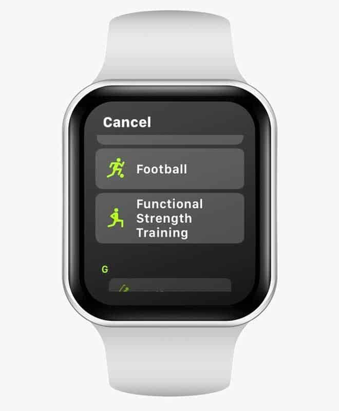 functional strength training on apple watch workout app