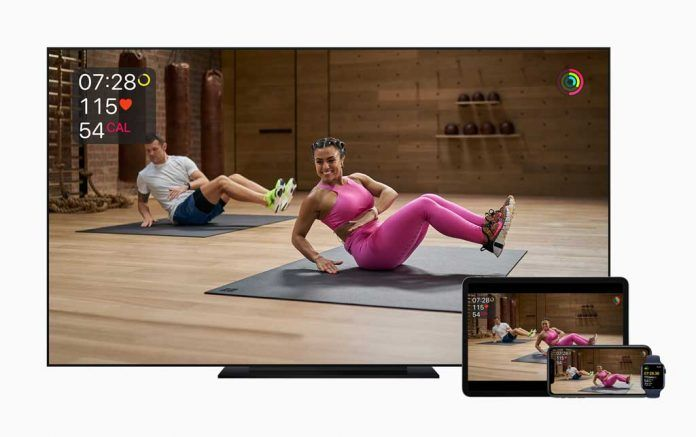Apple Watch integrates with all of Apple's mobile devices and Apple Tv to show your workout metrics on screen