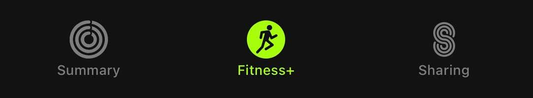 Apple Fitness+ tab