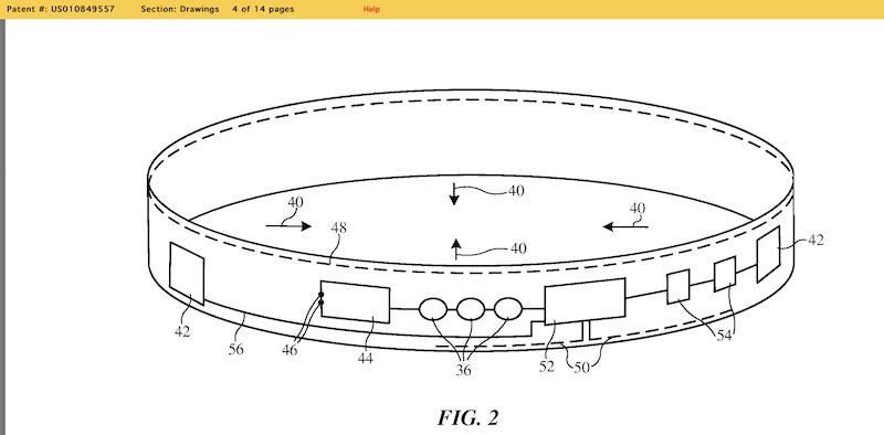 Apple health sensors embedded in smart fabric