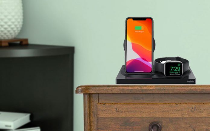 charging accessory for apple watch and iPhone for bedside table