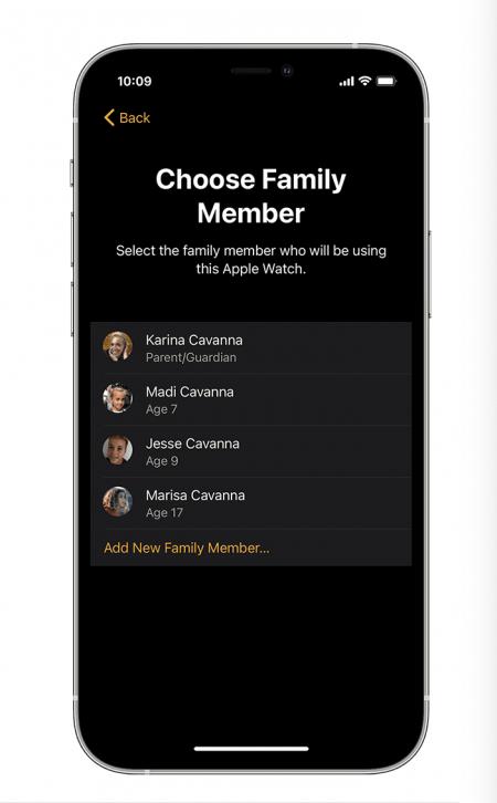 Choose a family member set up