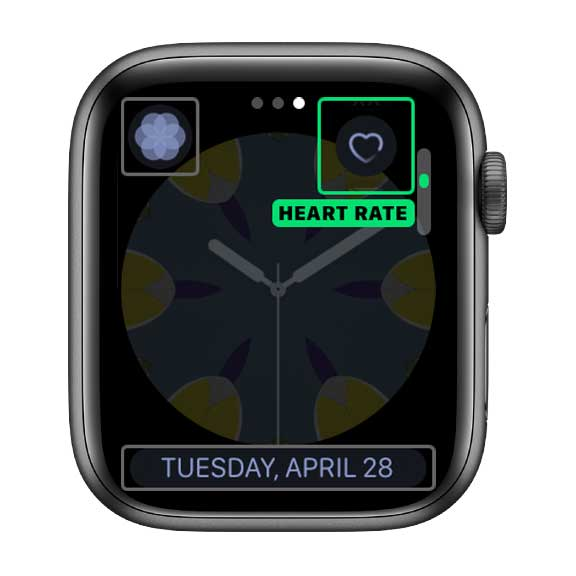 heart rate complication on Apple Watch face