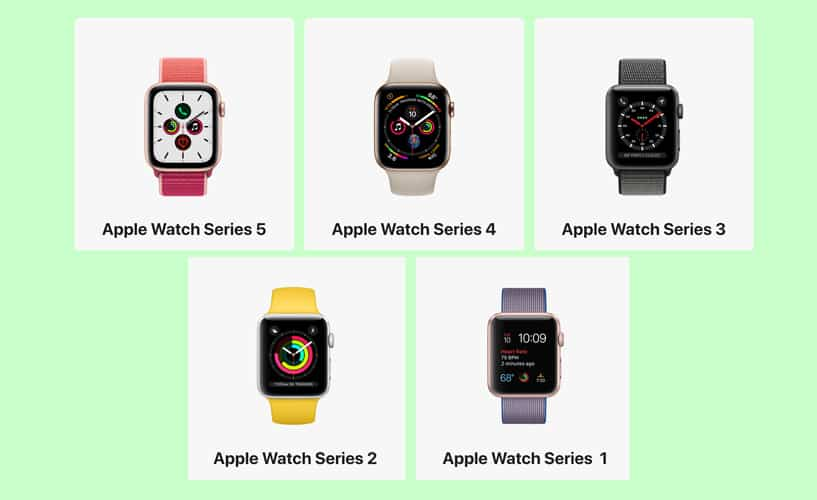 apple watch series 1 to 5