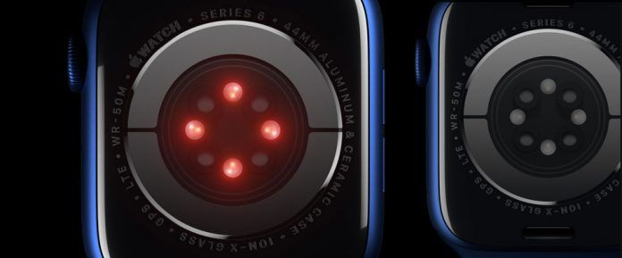 sensors on the back of Apple Watch Series 6