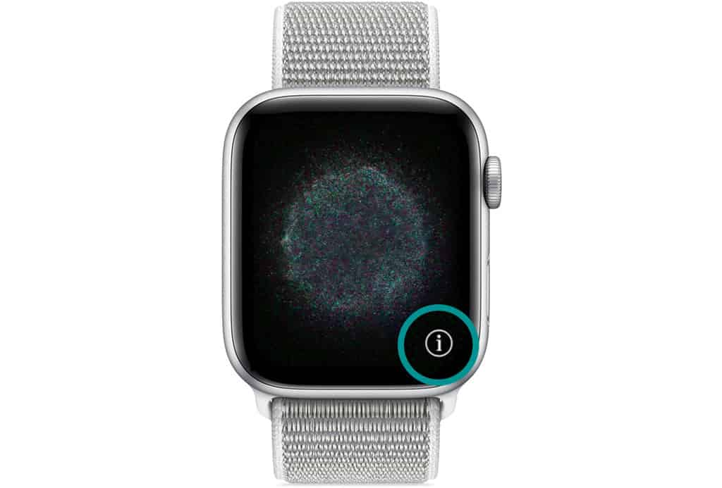 i icon on apple watch when pairing
