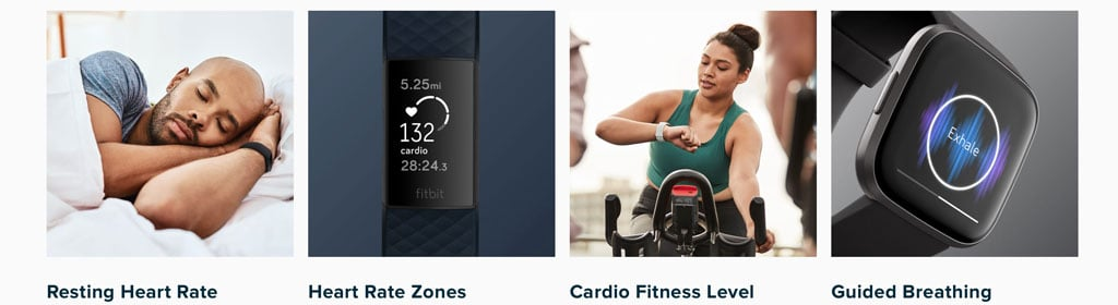 Fitbit's heart rate monitoring is used by many features and apps on Fitbit devices