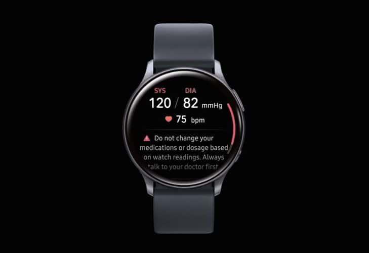 Samsung Galaxy watch blood pressure reading