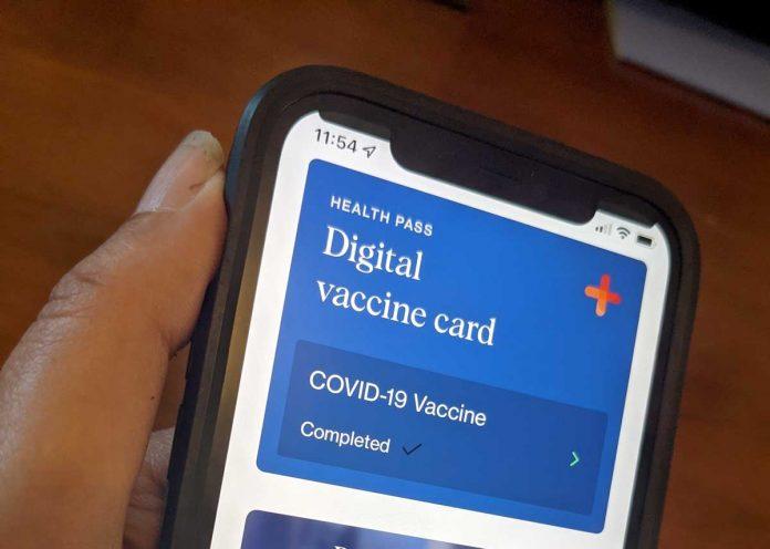 Clear app digital vaccine card in the CLEAR app