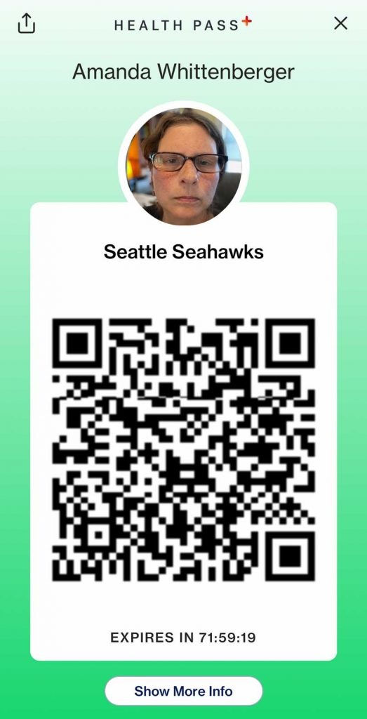 CLEAR health pass for NFL Seahawks event