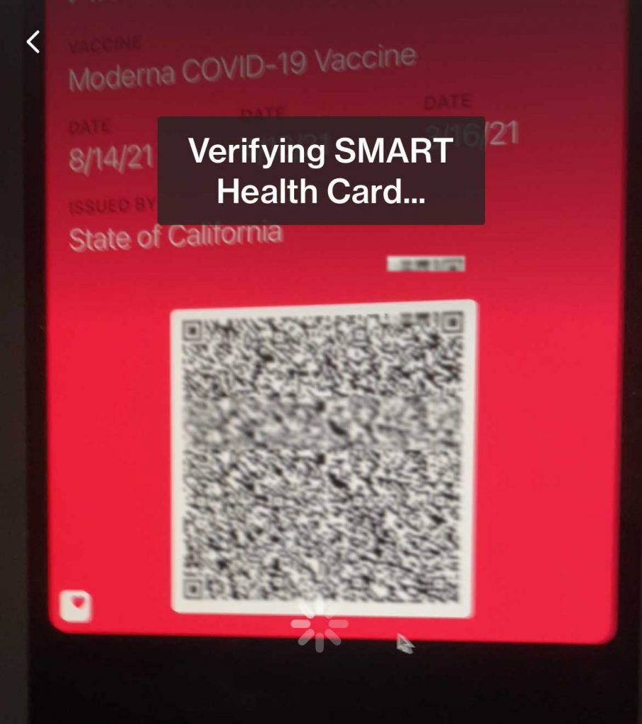 verifying covid vaccine record in CLEAR app