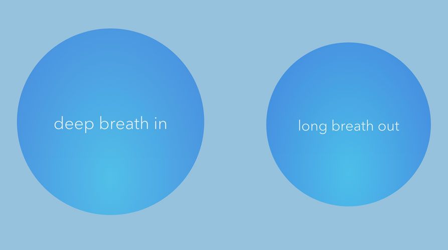 mindful breathing with Calm app