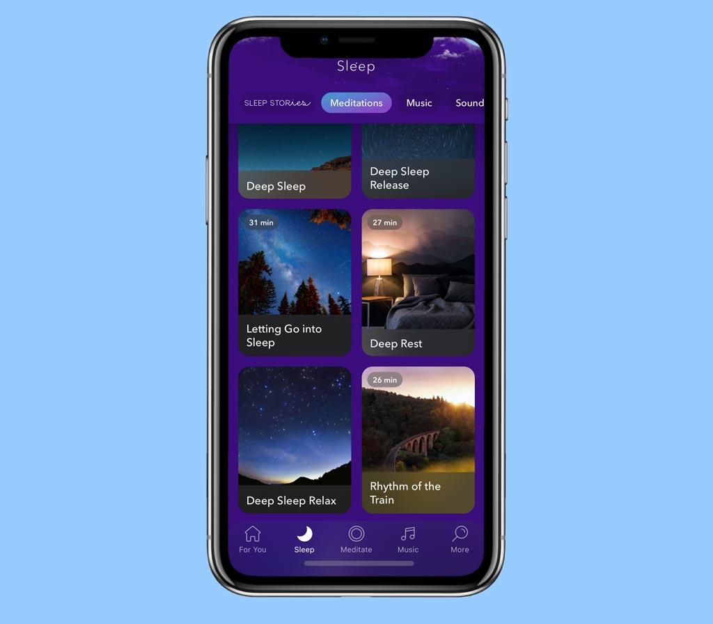 sleep using the Calm app