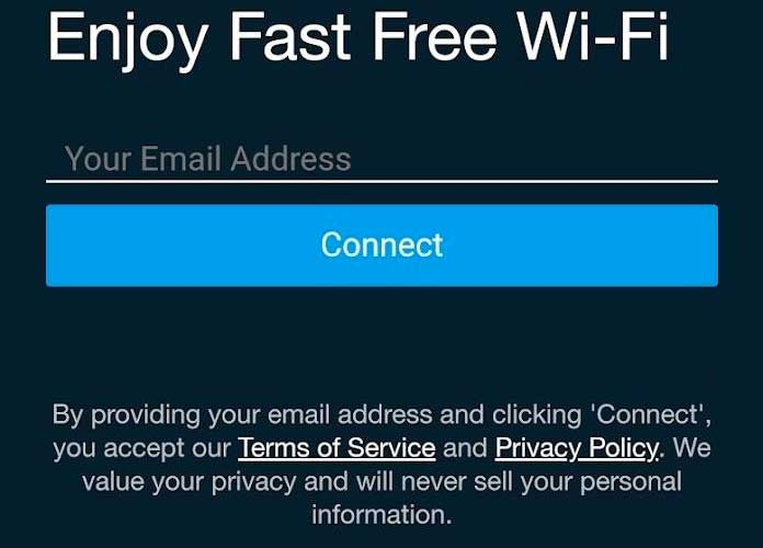 Fitbit don't connect to WiFi that's provided by a captive portal like the ones used at airports or hotels