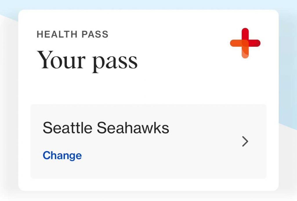 CLEAR app Health Pass change venue or event for pass