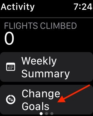 Change Move calorie goal on Apple Watch