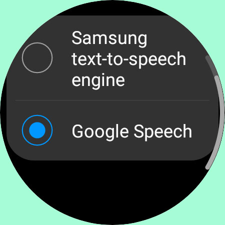add google speech as preferred text to speech engine for galaxy watch 4