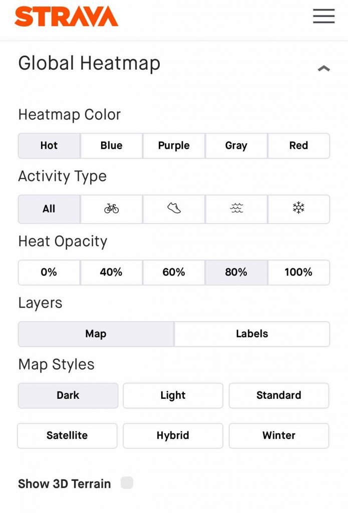 sträva heat map change its style and color